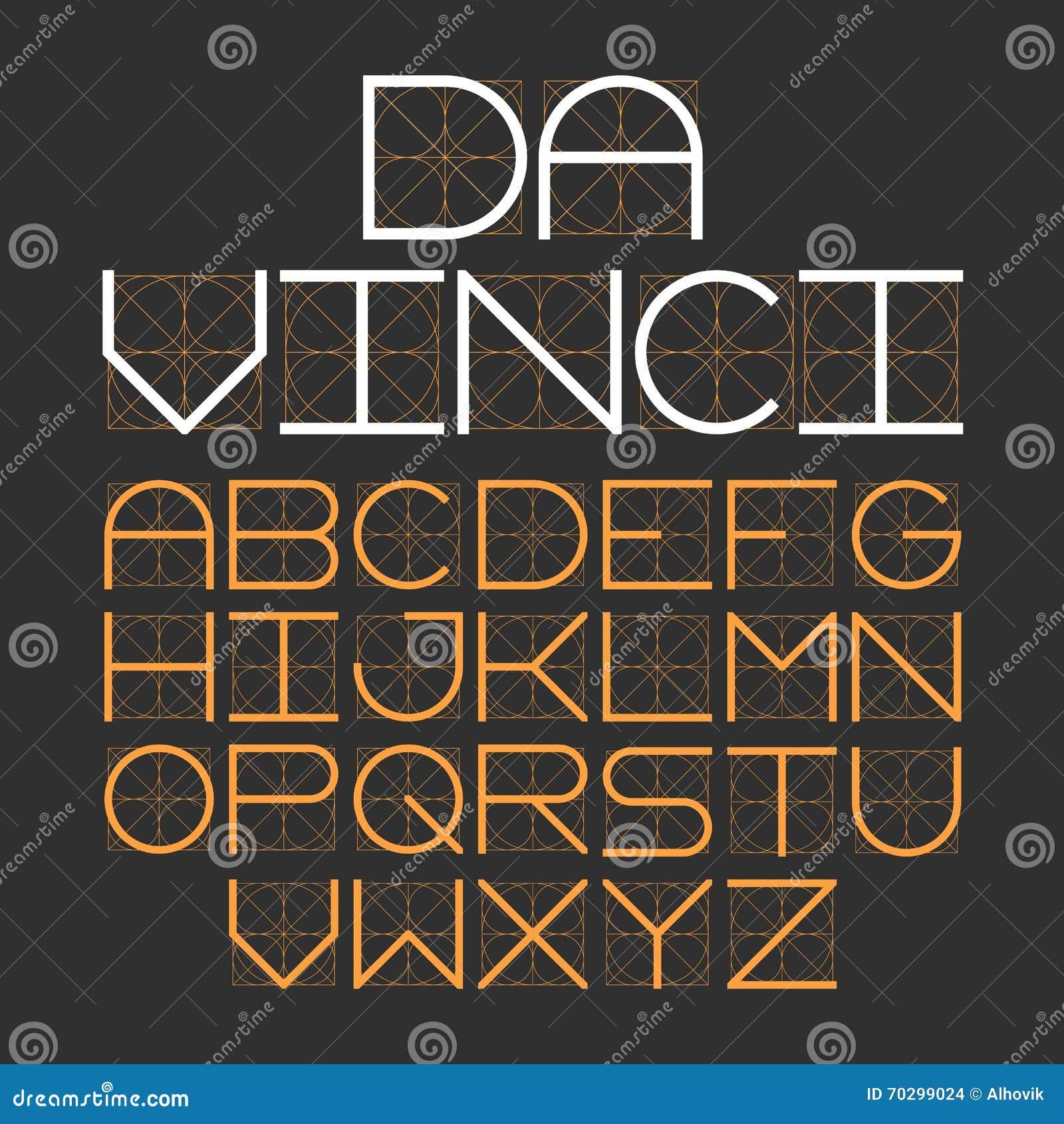 稀薄的现代字体达芬奇