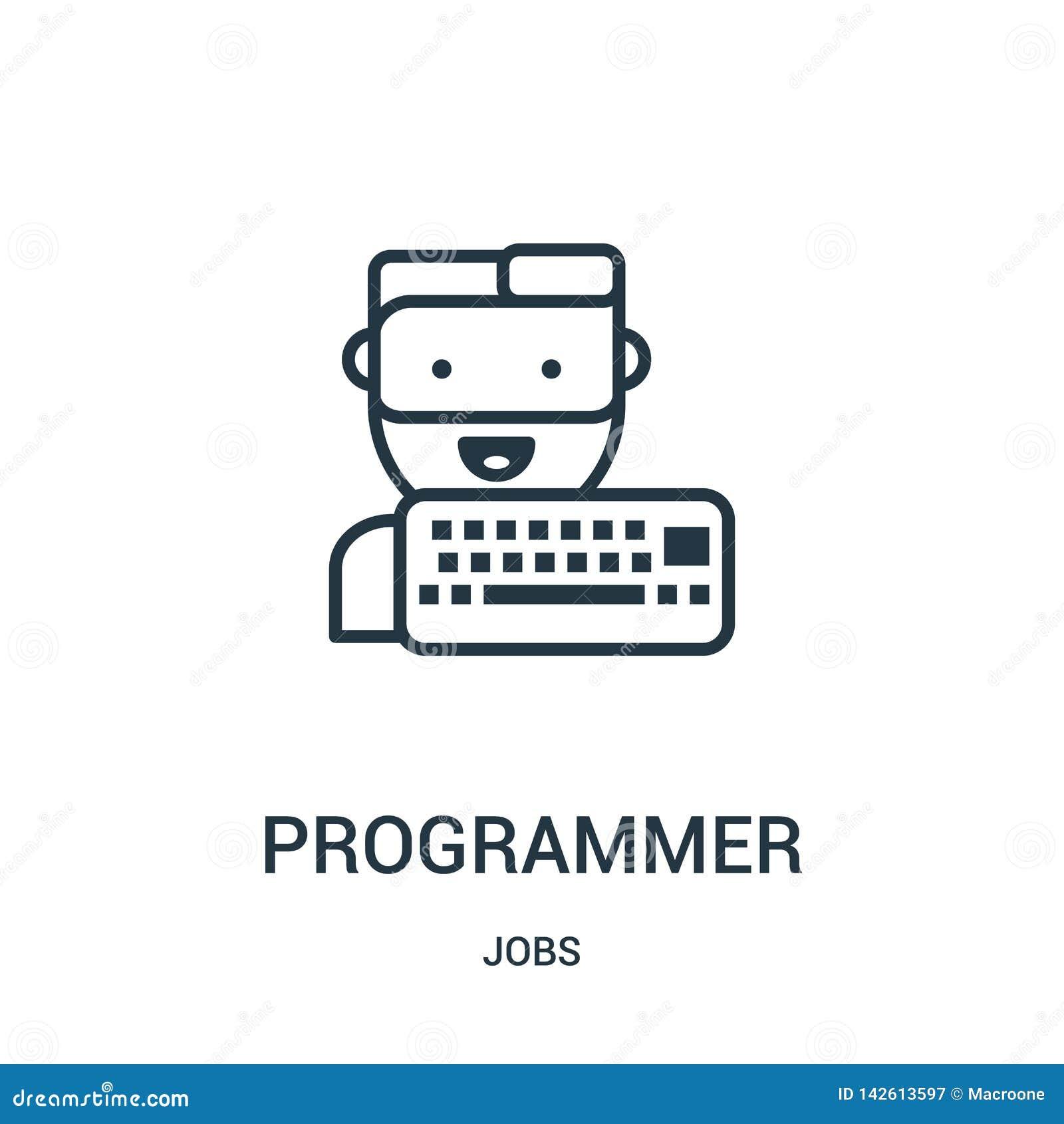 程序员从工作汇集的象传染媒介 稀薄的线程序员概述象传染媒介例证 r