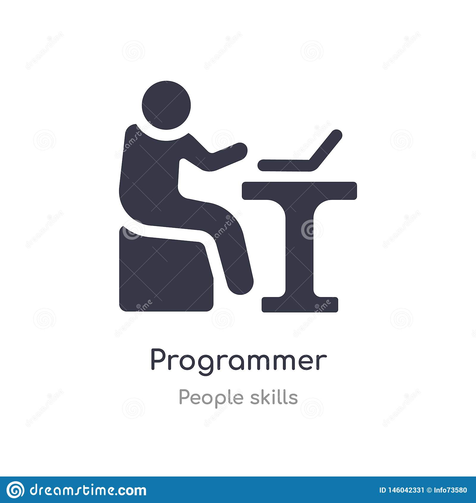 程序员概述象 r 编辑可能的稀薄的冲程程序员象