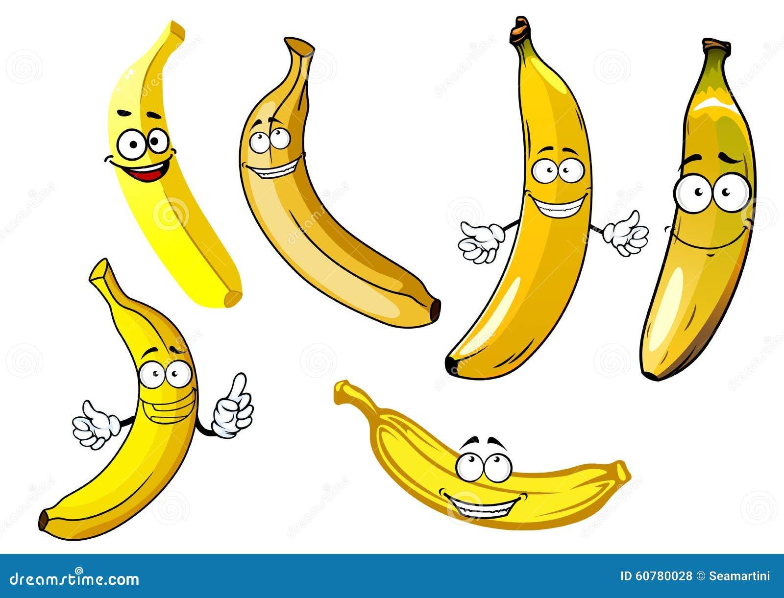滑稽的动画片黄色香蕉果子