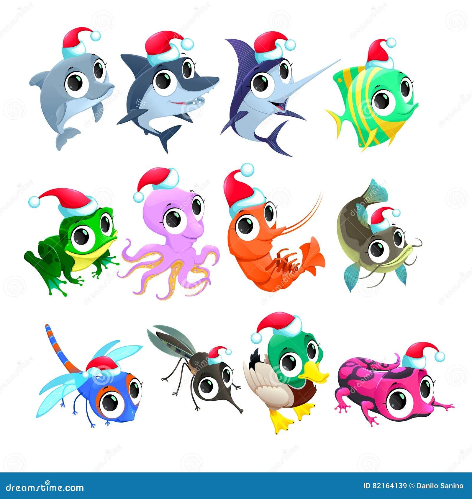 滑稽的圣诞节动物