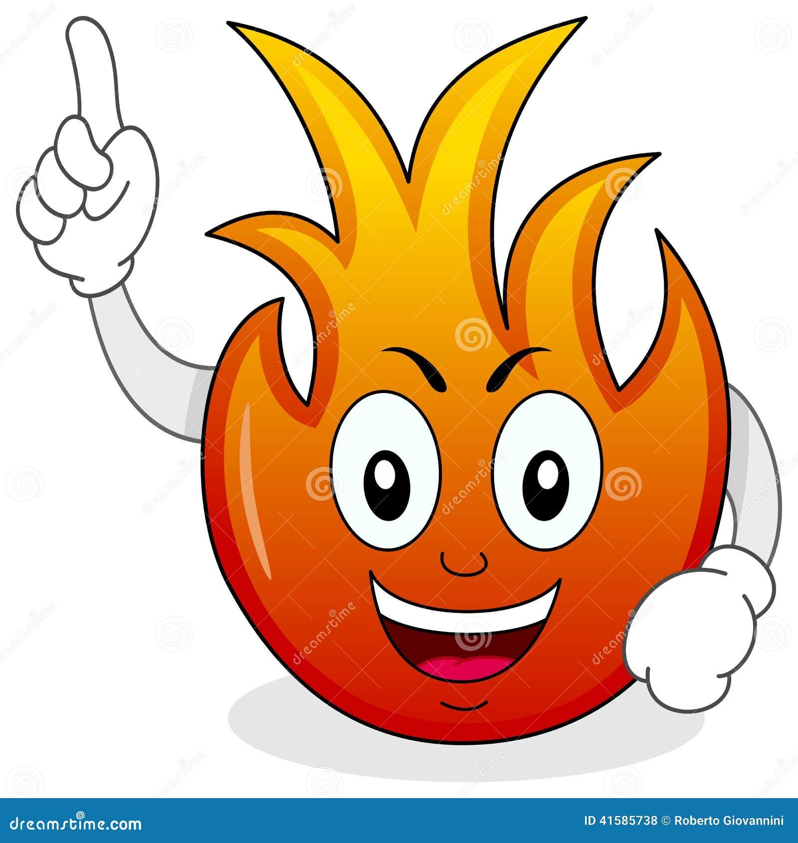 滑稽的火火焰漫画人物图片