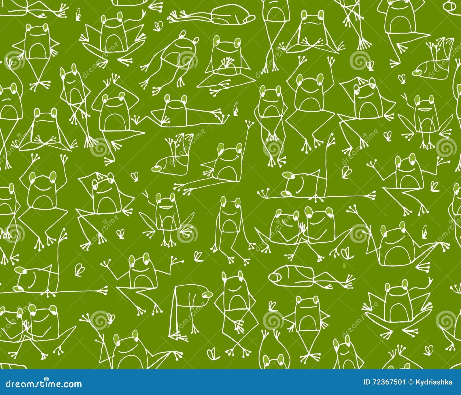 滑稽的青蛙样式,您的设计的剪影