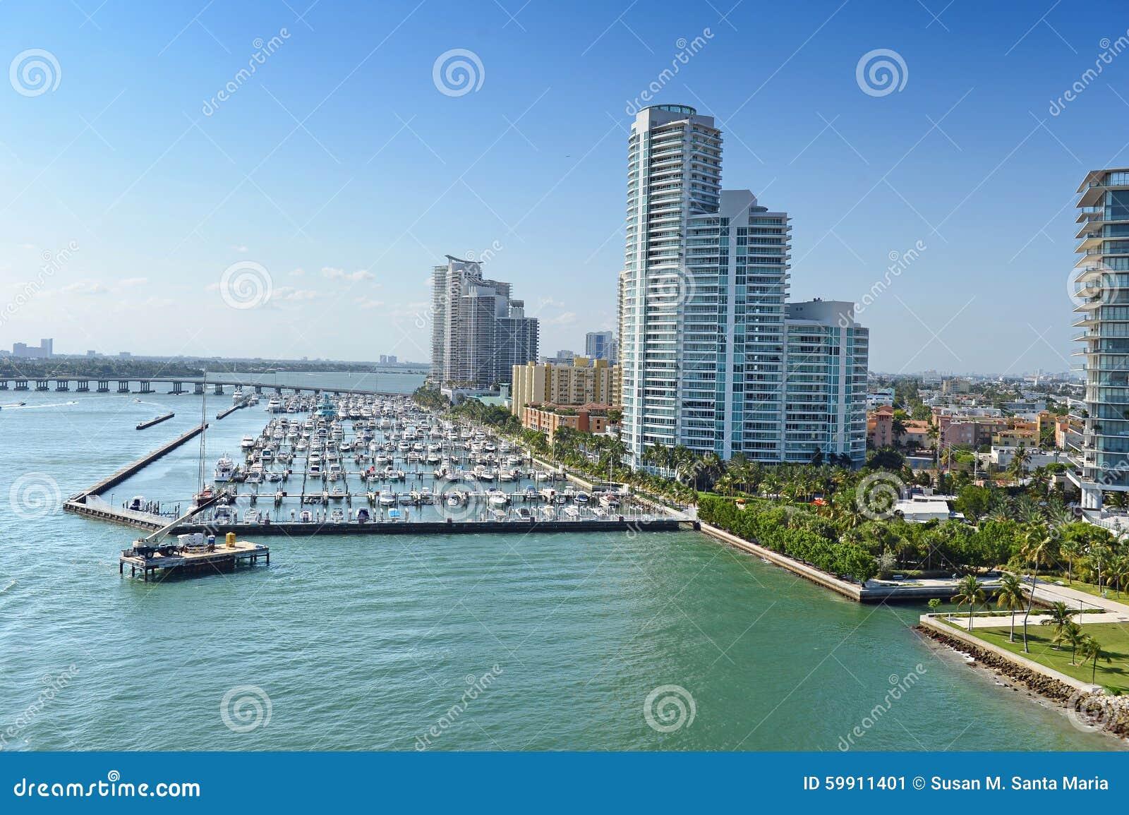 空中海滩迈阿密南视图