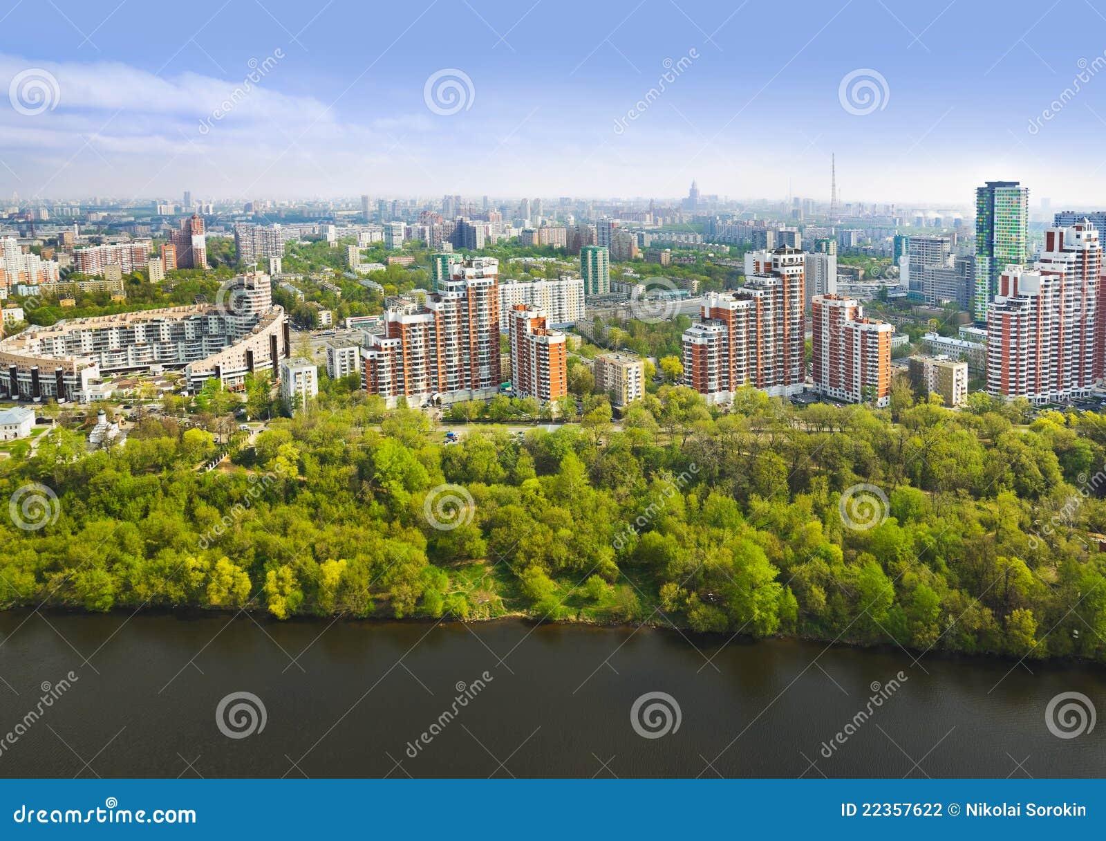 空中莫斯科俄国视图