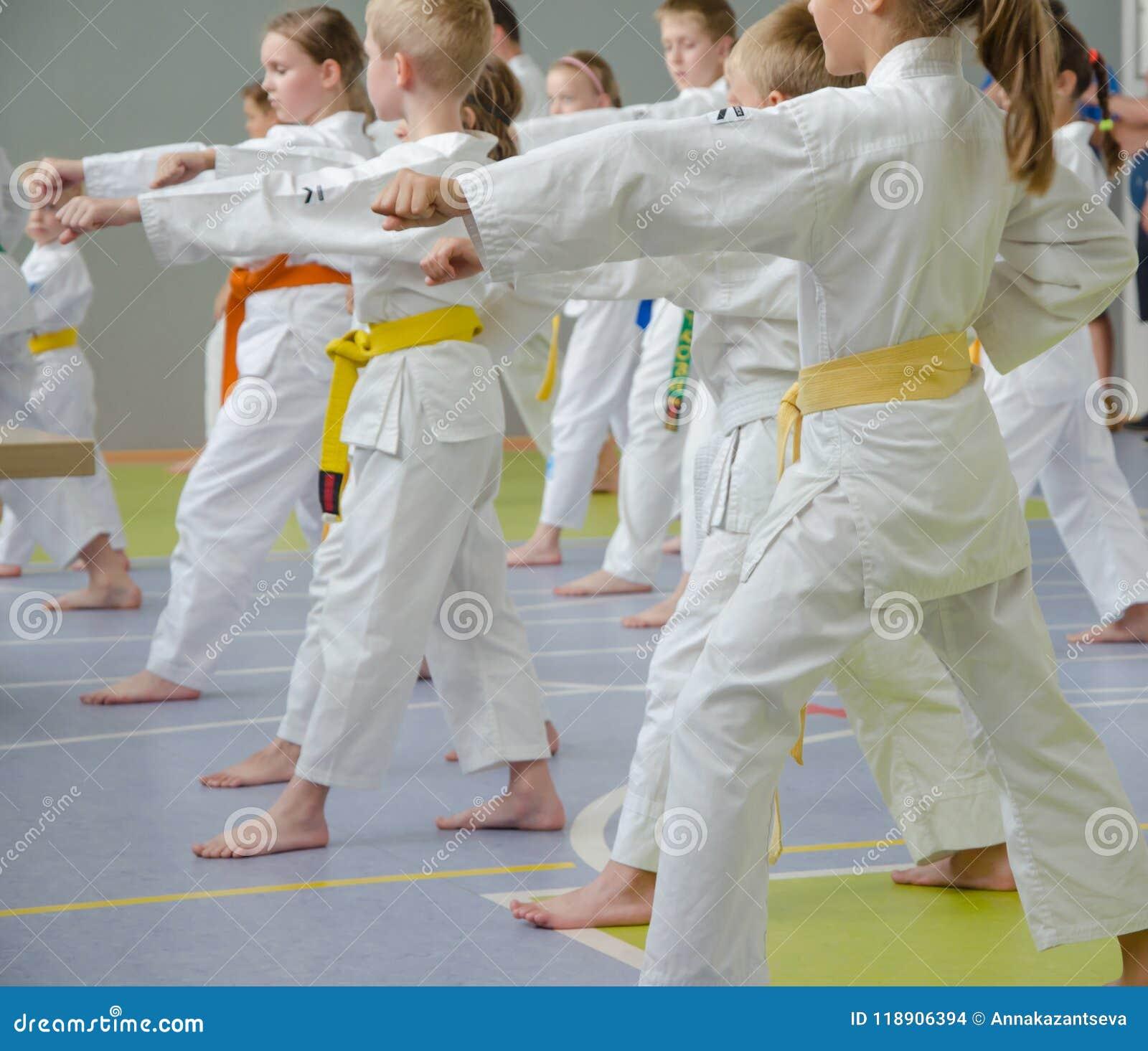 空手道训练 另外年龄实践军事移动孩子
