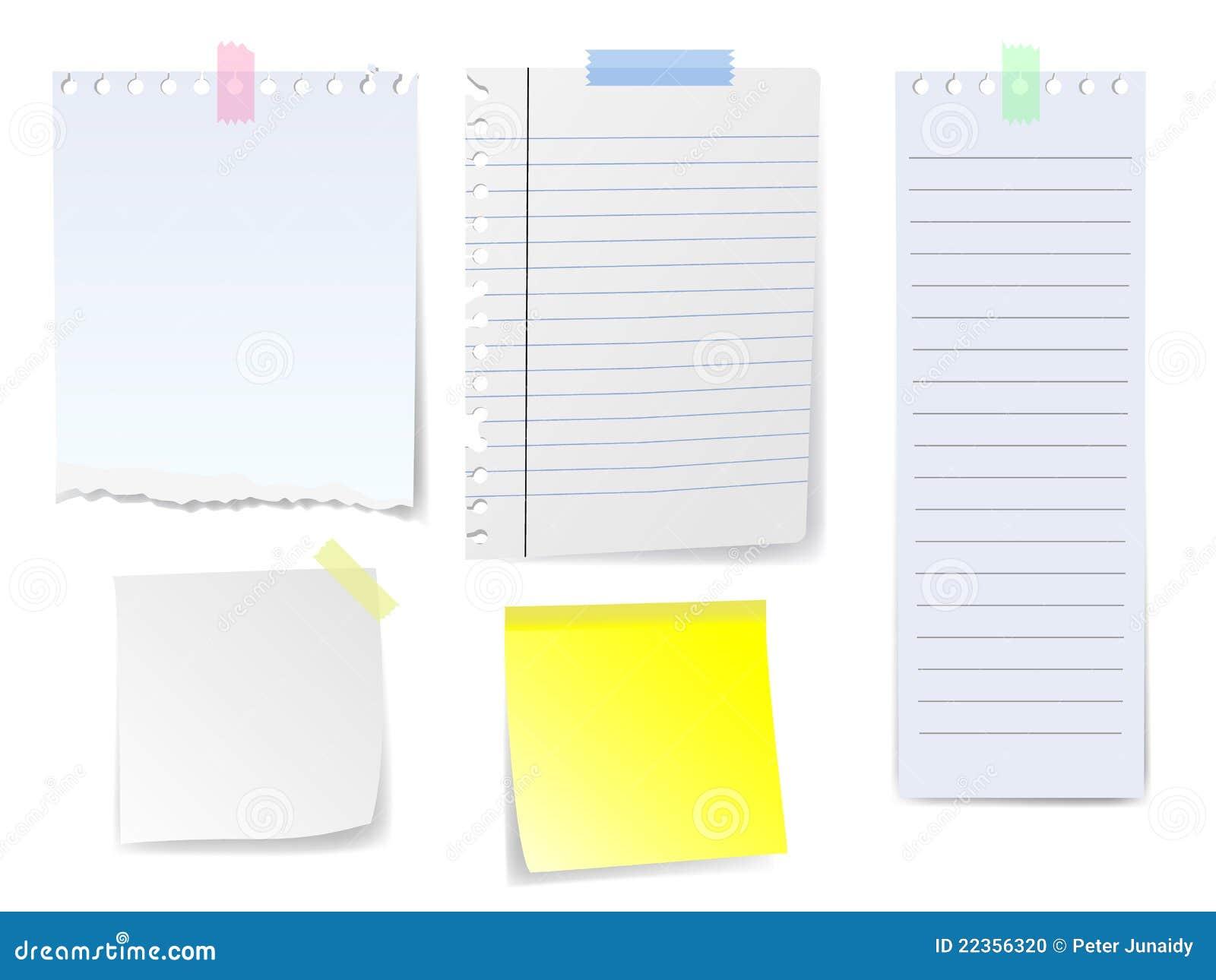 空白便条纸