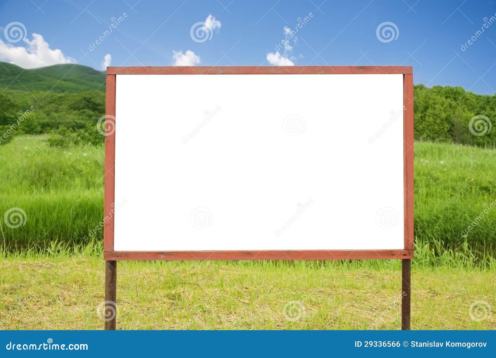 空白广告牌在森林.图片
