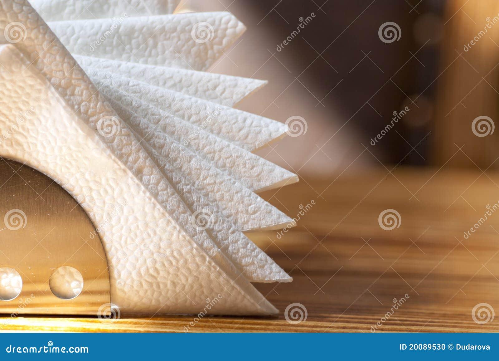 空白持有人的餐巾