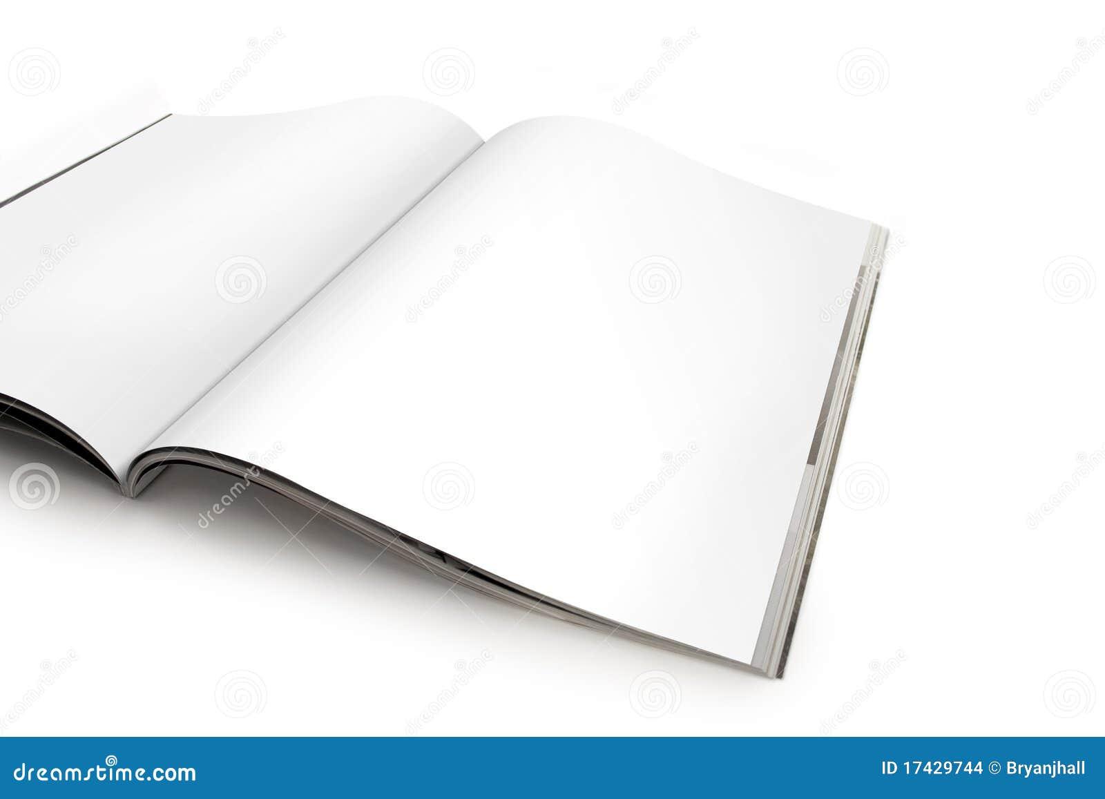 空白杂志开放页传播