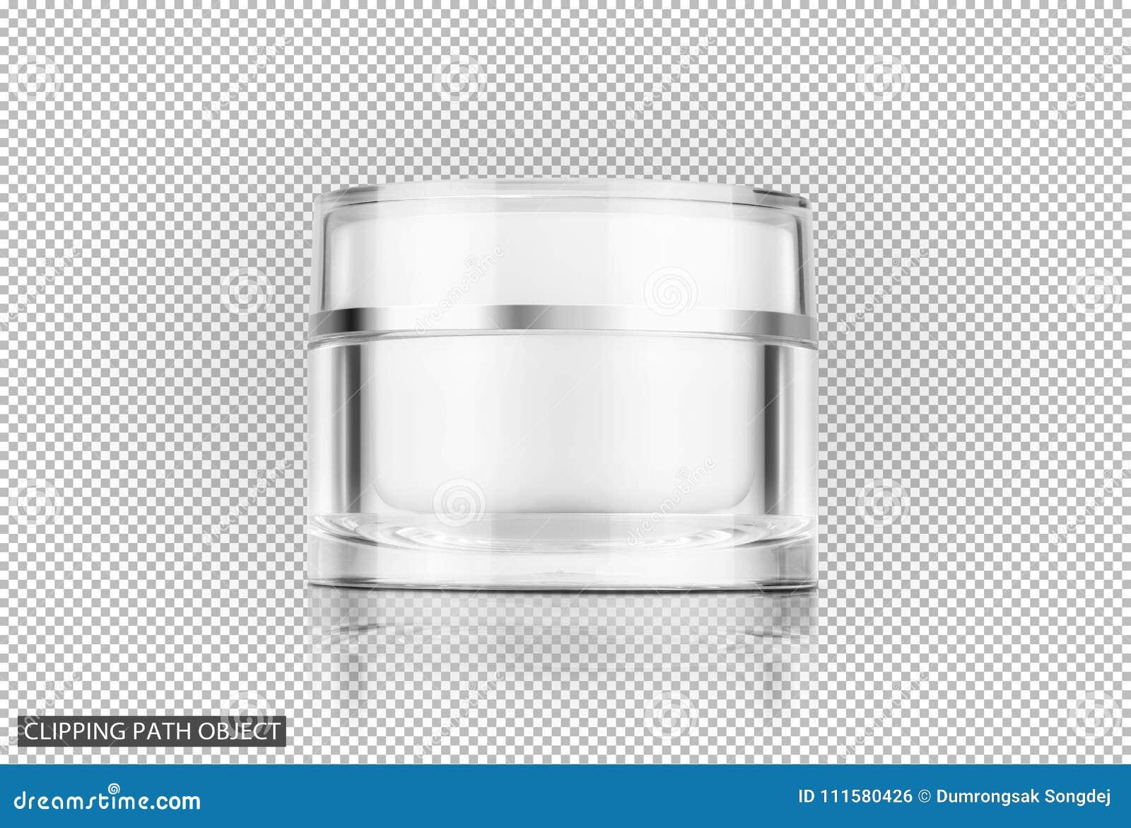 空白的包装的清楚的化妆奶油色罐