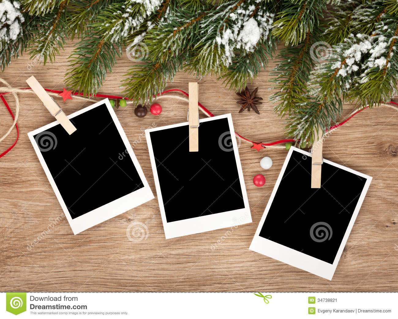 空白的圣诞节照片框架