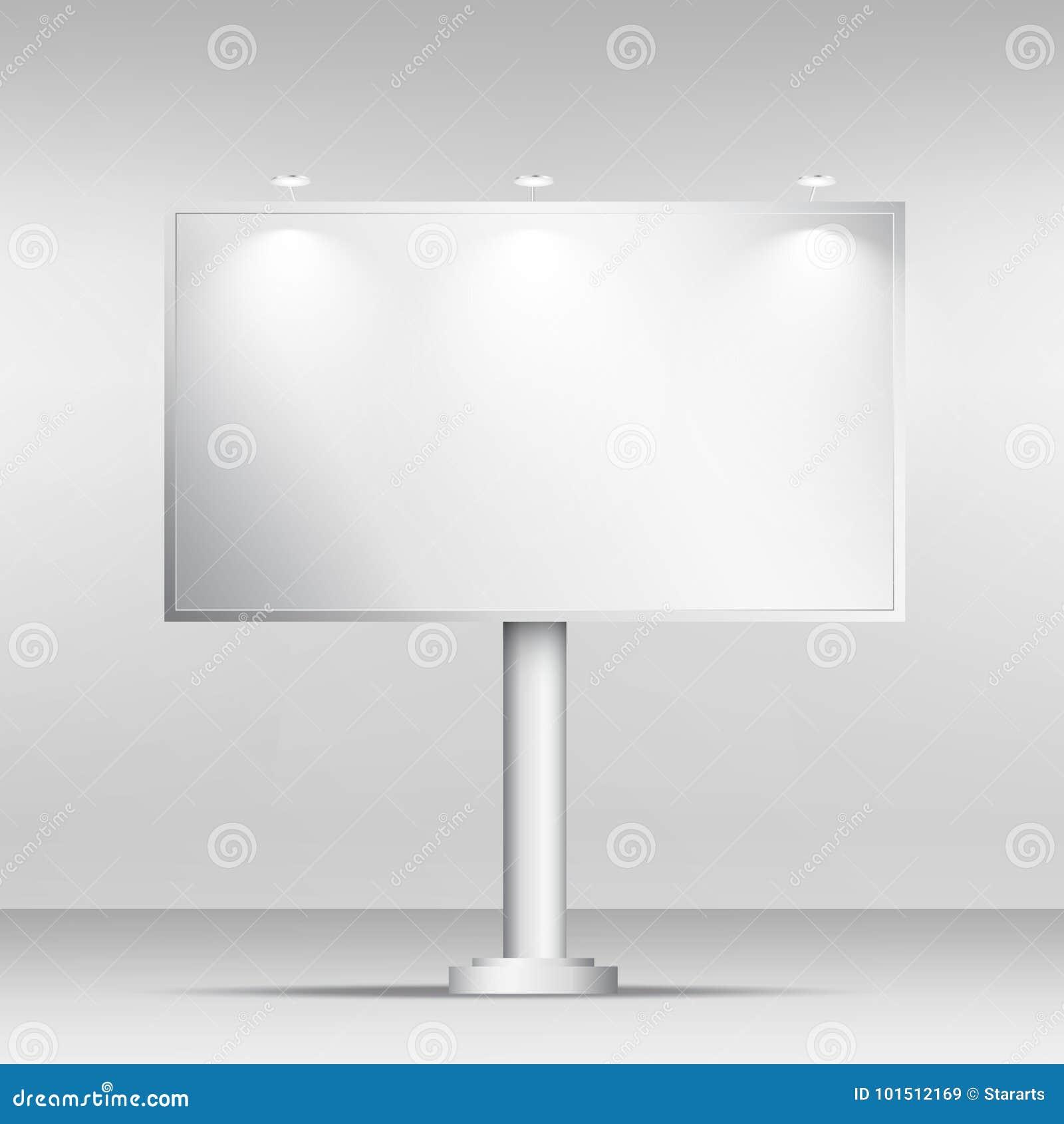 空白的广告牌大模型设计模板