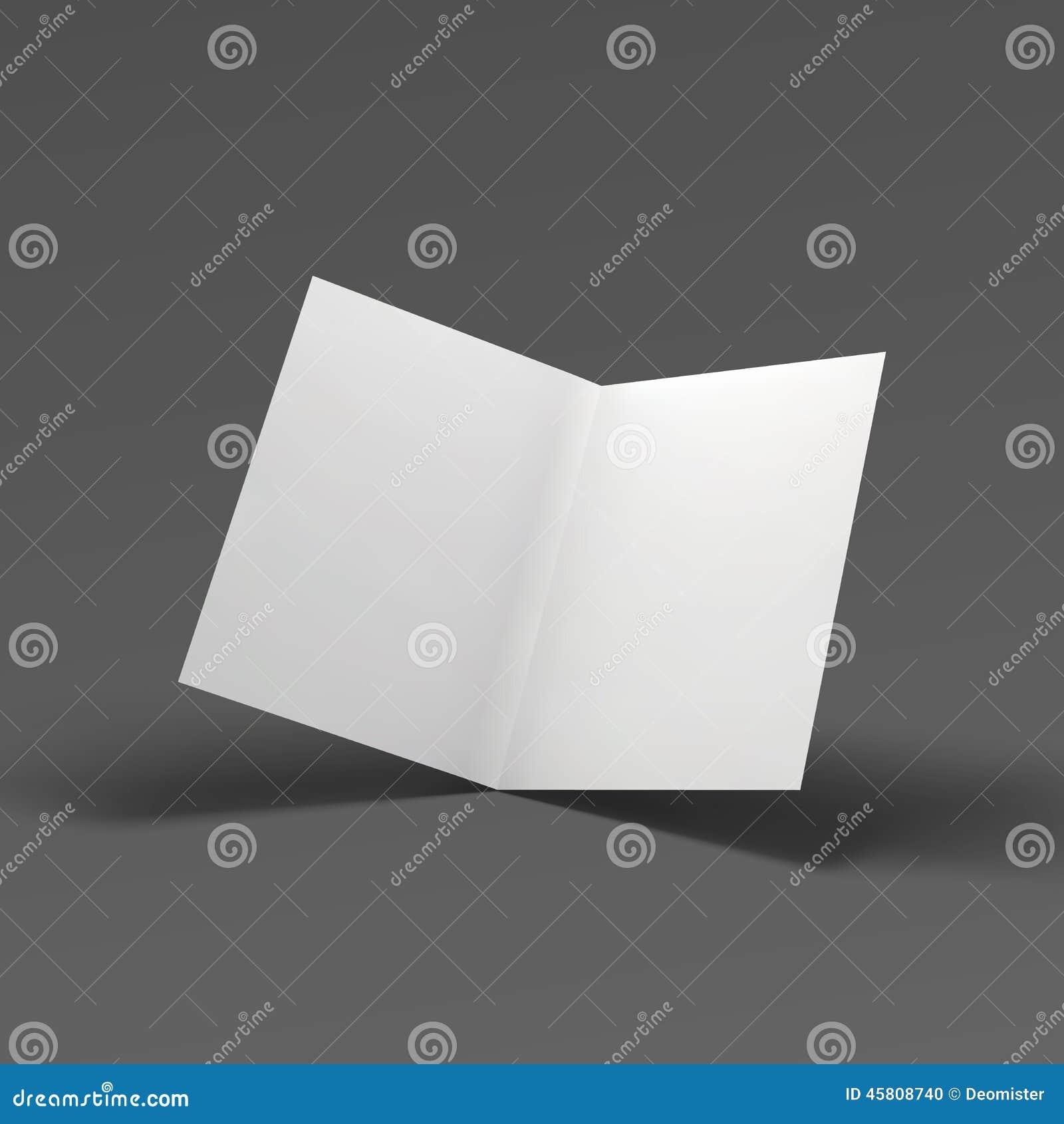 空白的折叠纸小册子