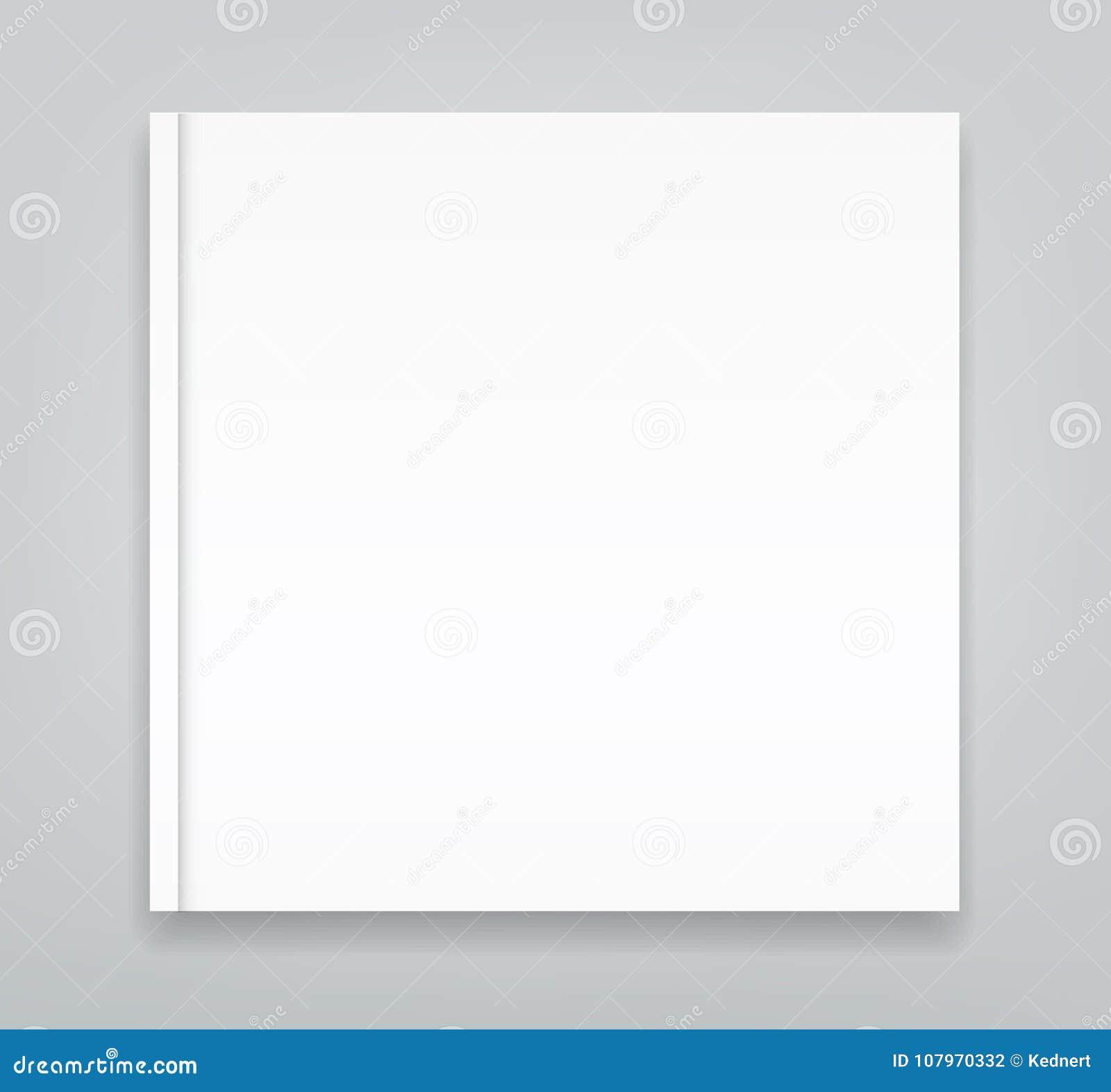空白的方形的三部合成的小册子大模型盖子模板