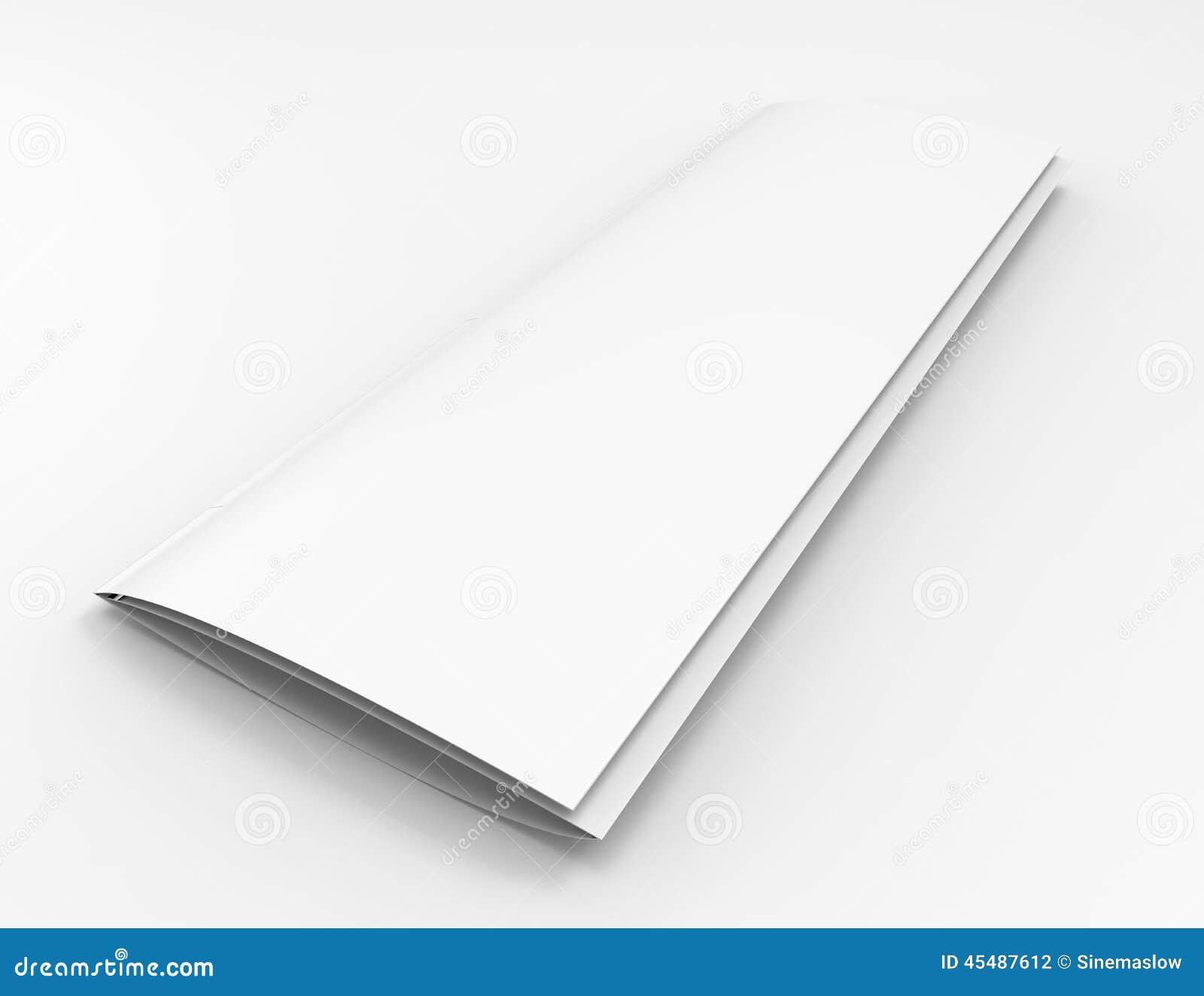 空白的狭窄的编目或小册子