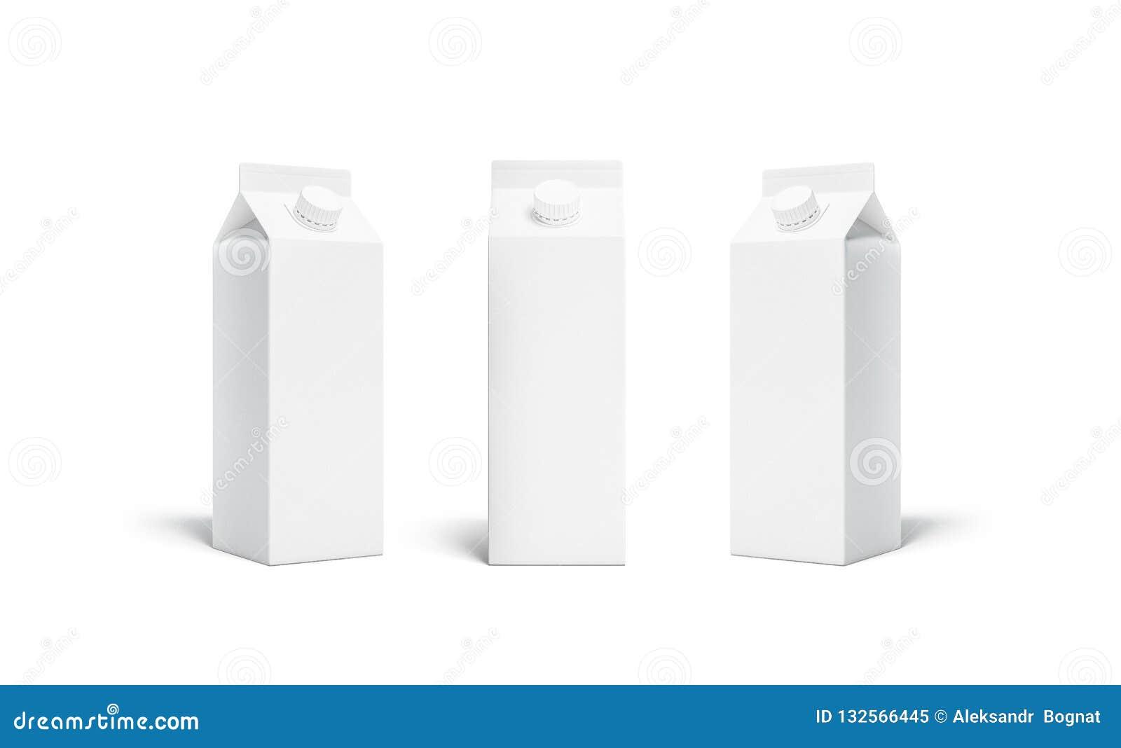空白的白色rex汁液或牛奶组装盒盖大模型集合