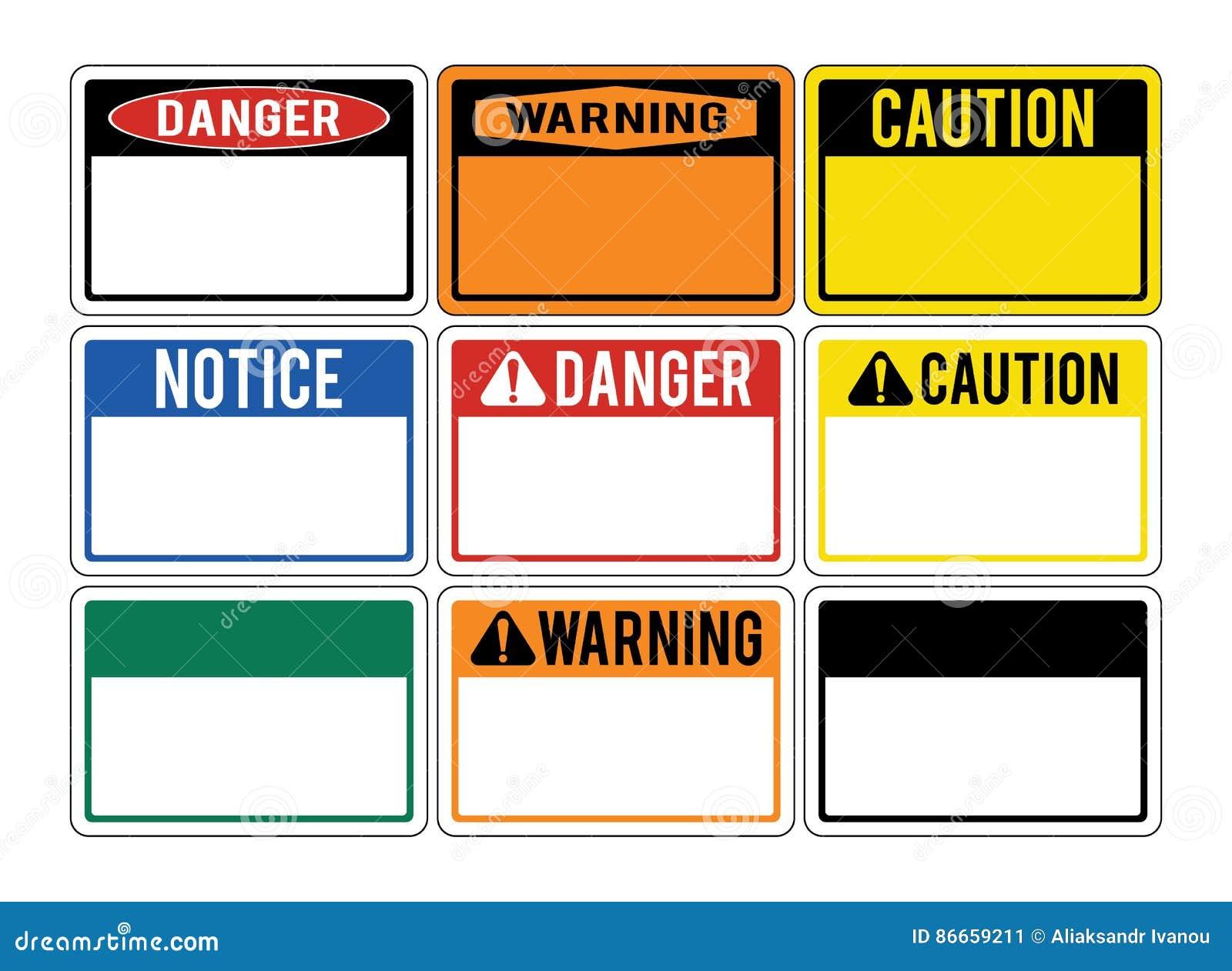 空白的警报信号 套关于危险的警报信号 丹
