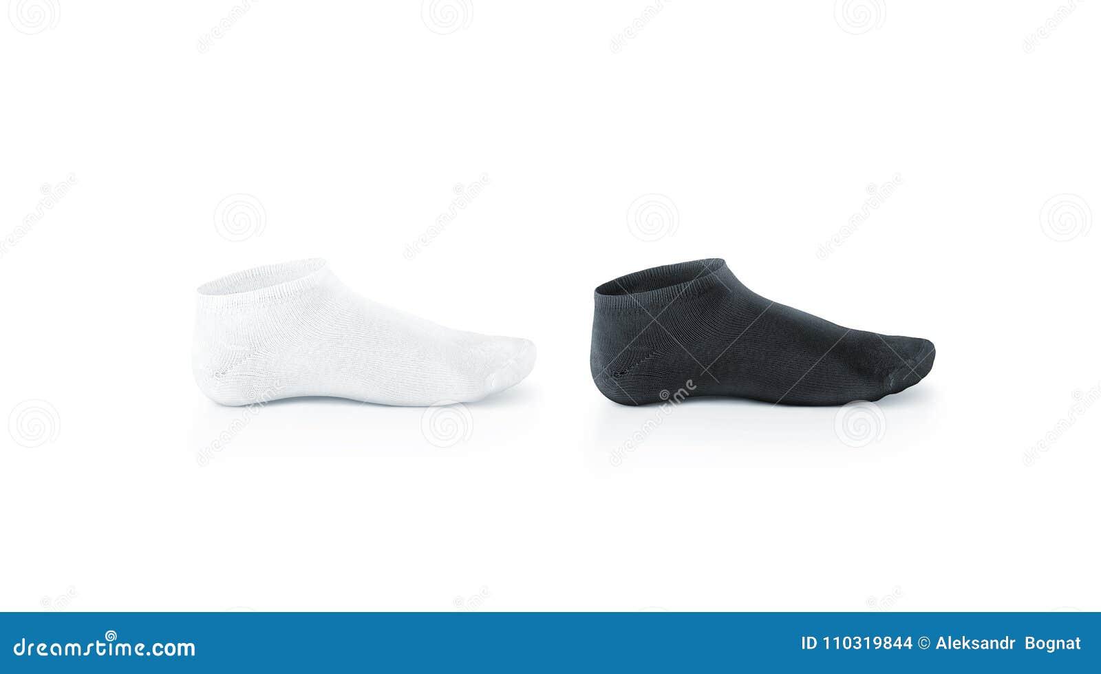 空白的黑白短的袜子设计大模型,被隔绝,