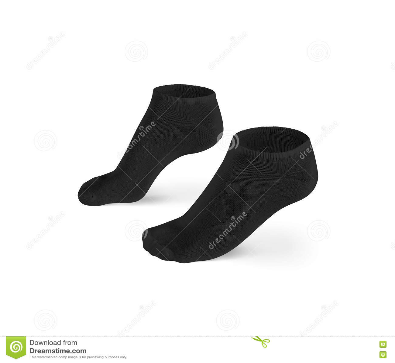 空白的黑短的袜子设计大模型,被隔绝,裁减路线