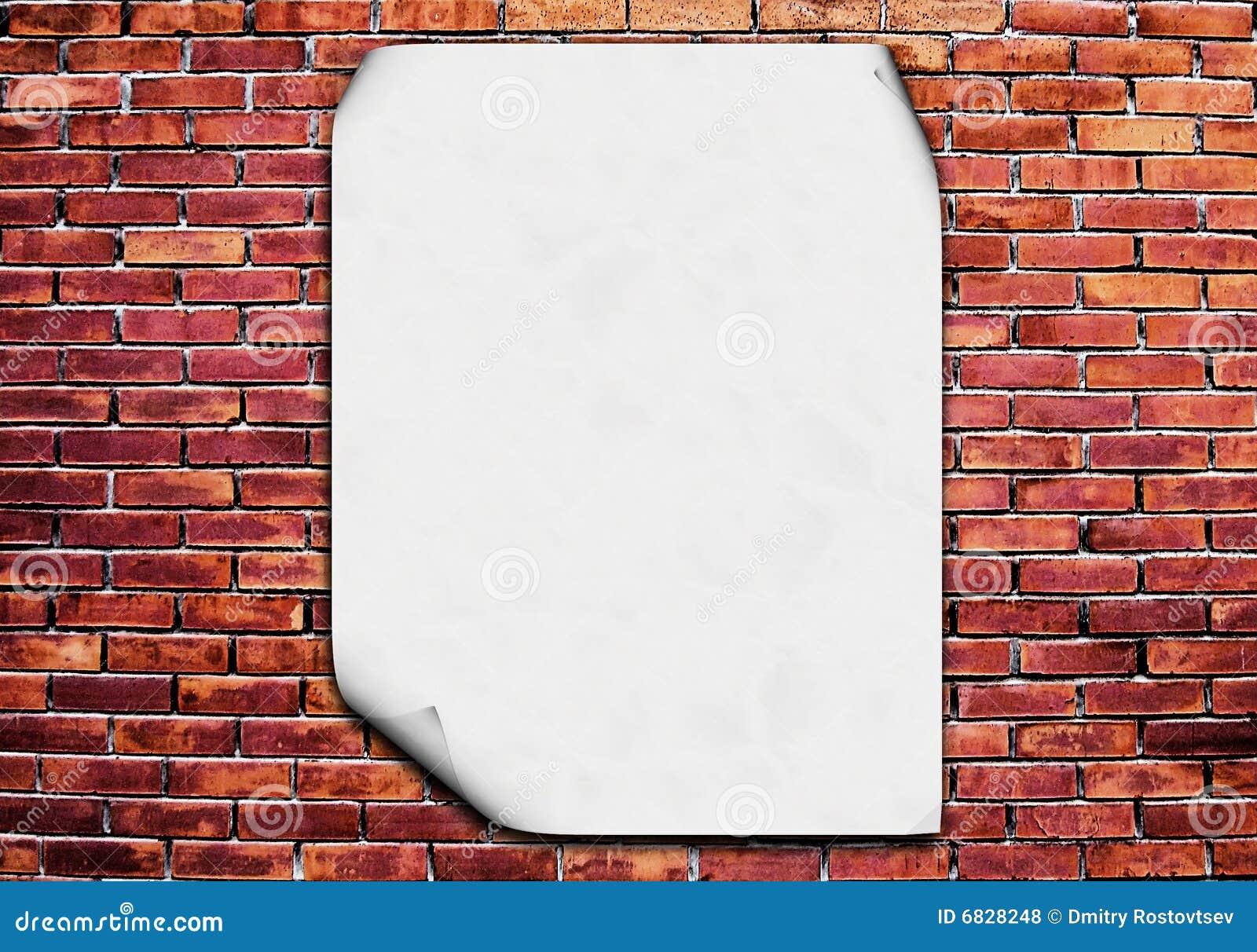 空白砖海报墙壁