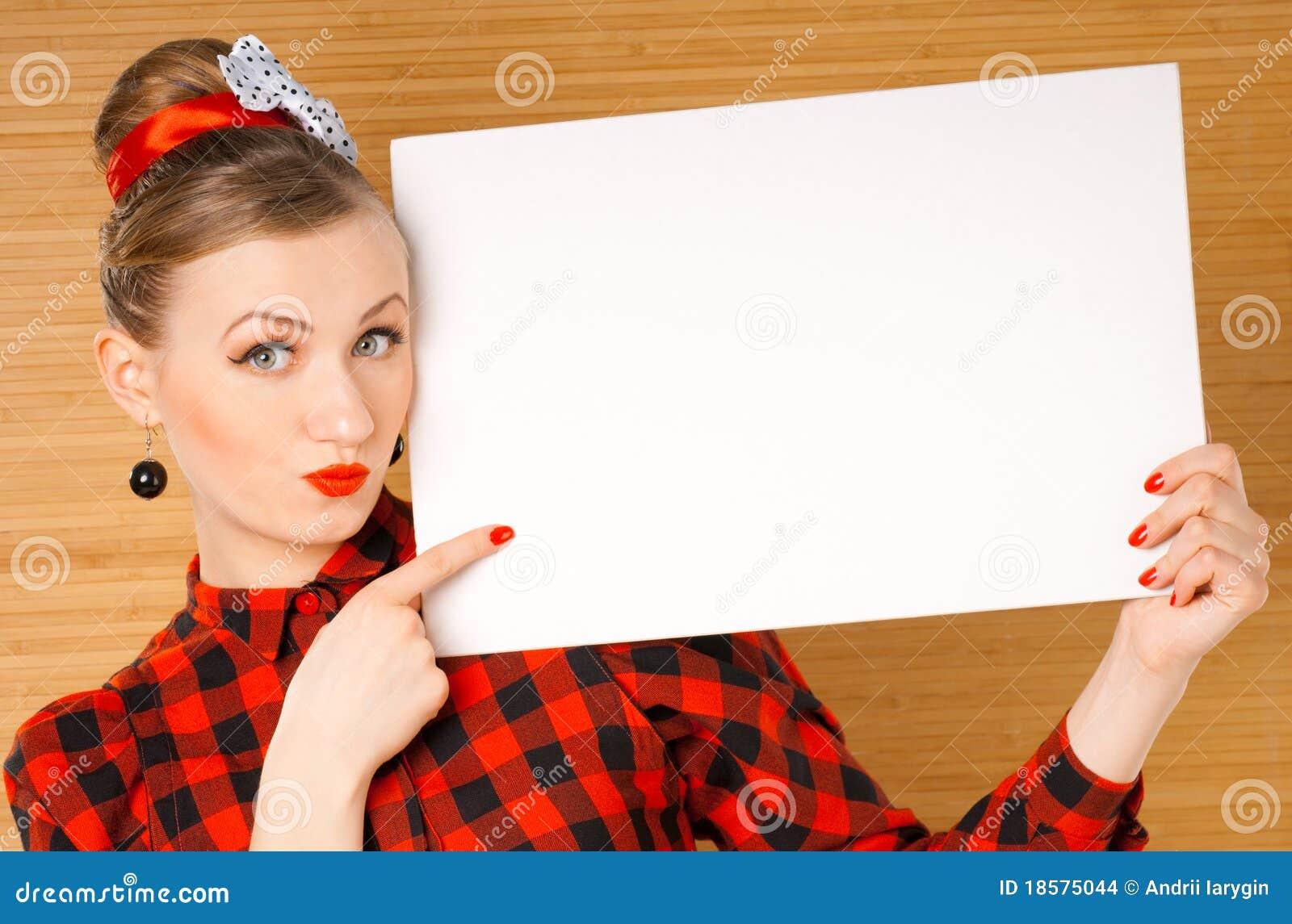 空白符号妇女