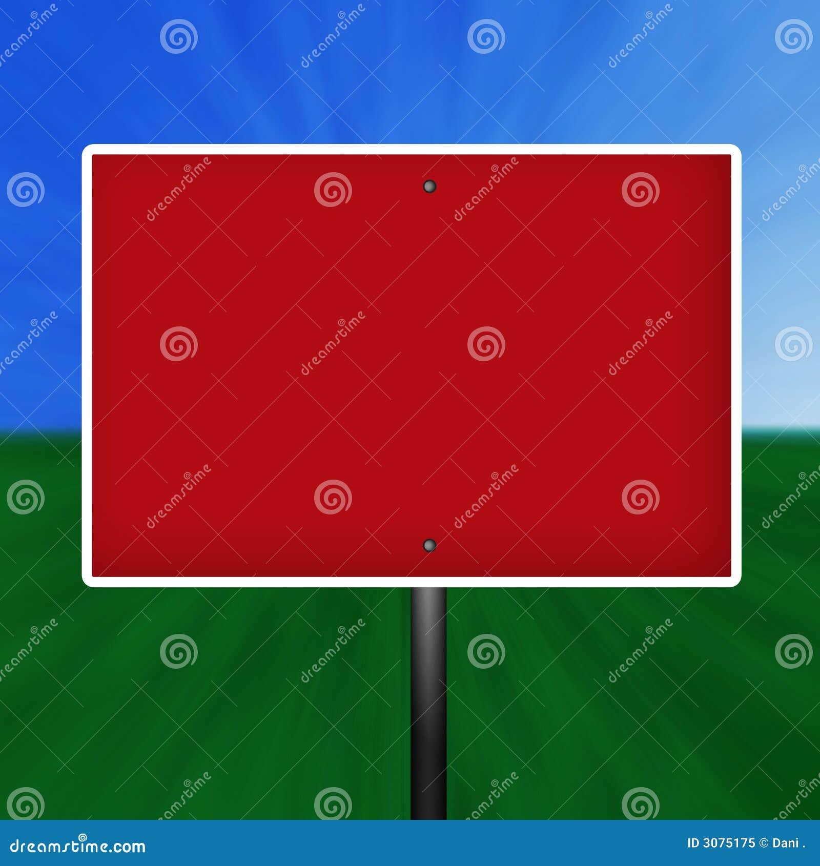 空白红色符号警告白色