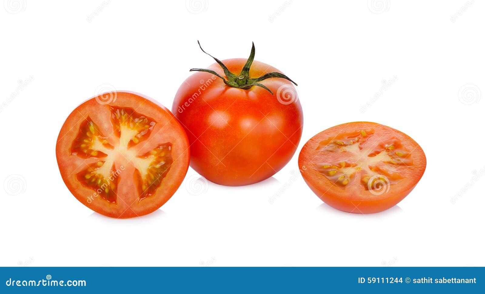 空白背景新鲜的查出的蕃茄