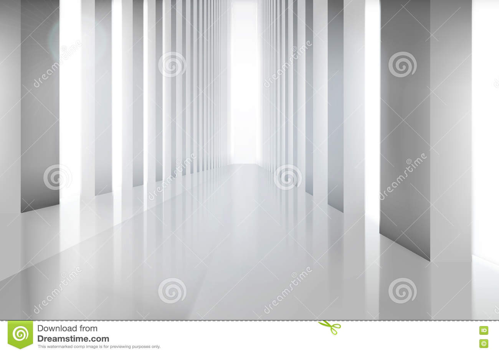 空的大大厅 也corel凹道例证向量