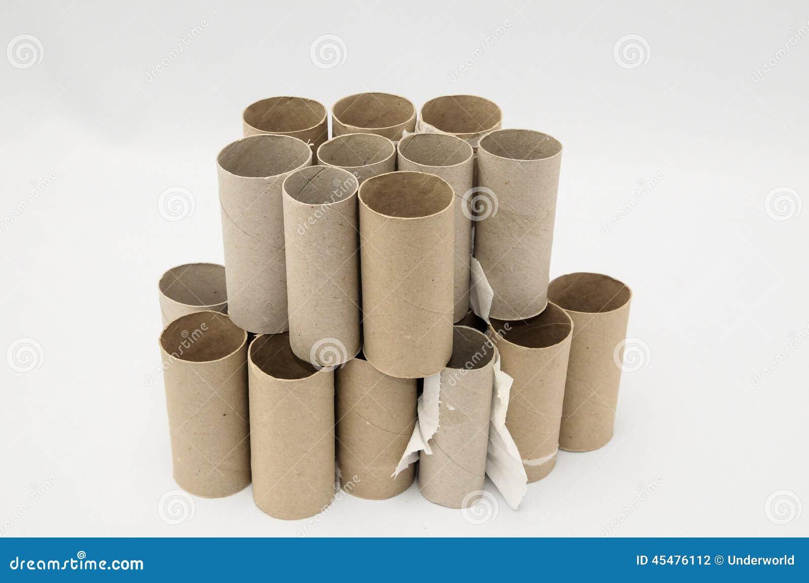 空的纸卷洗手间