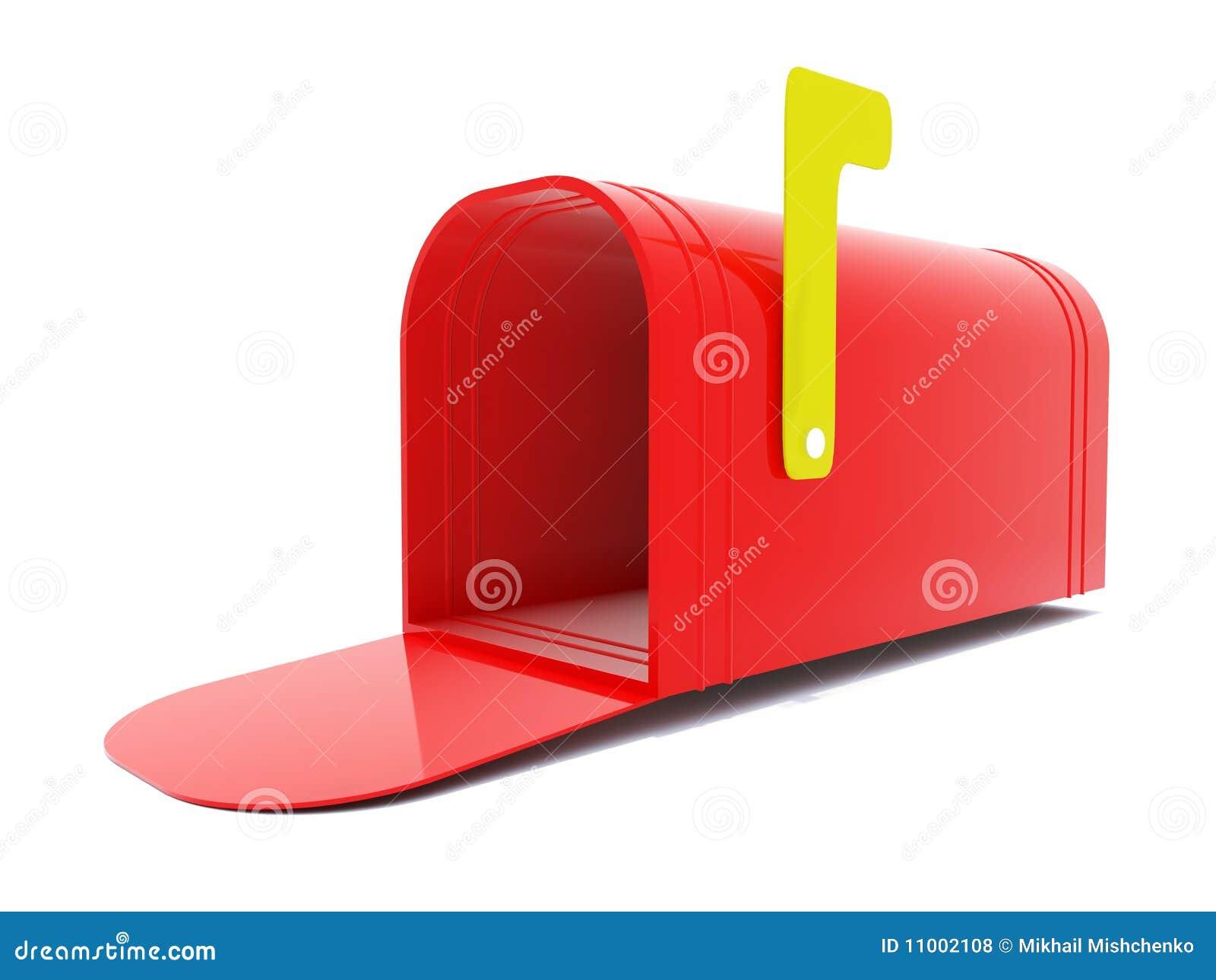 空的邮箱红色