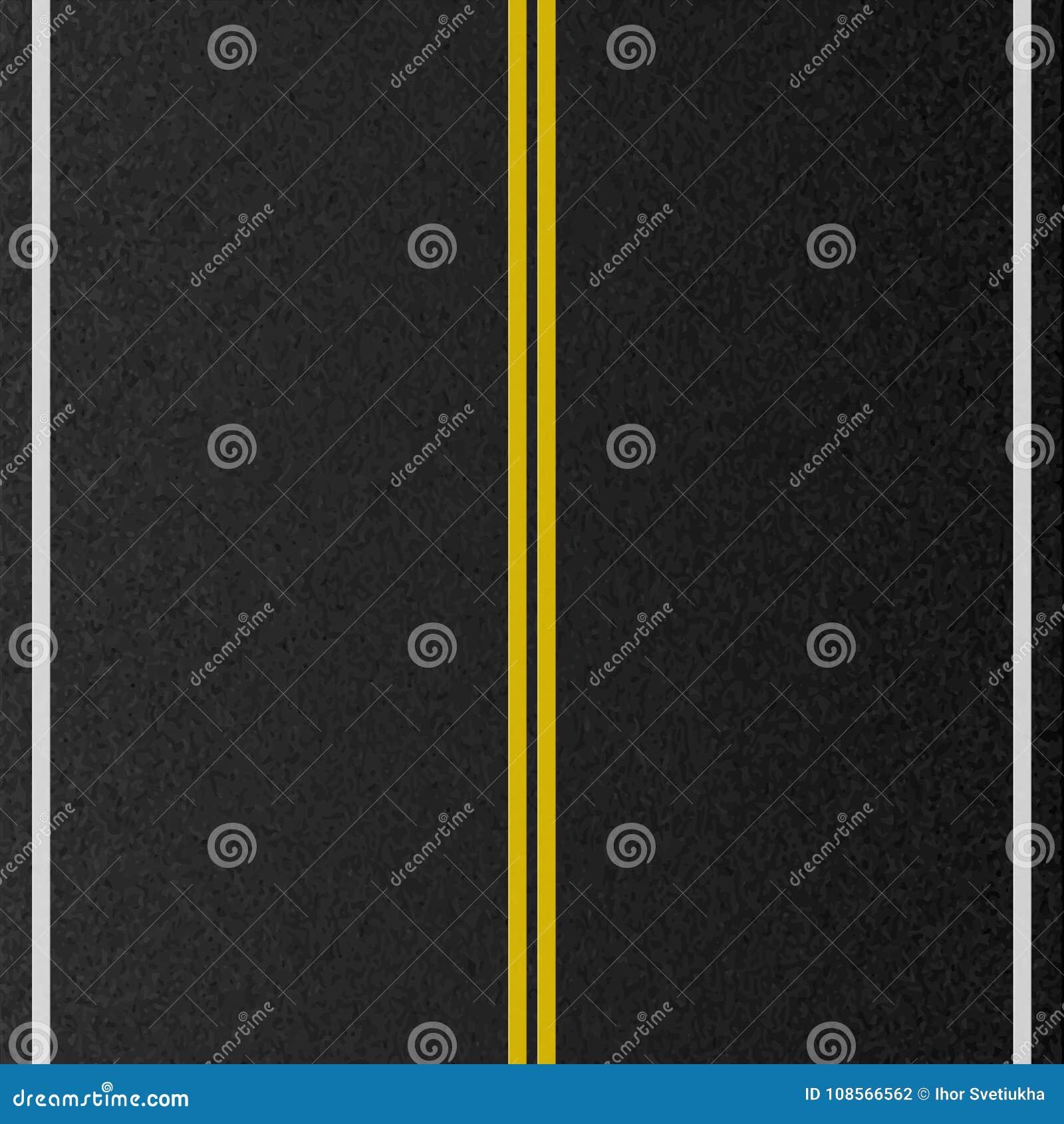 空的都市路设计  标号路,沥青纹理 也corel凹道例证向量