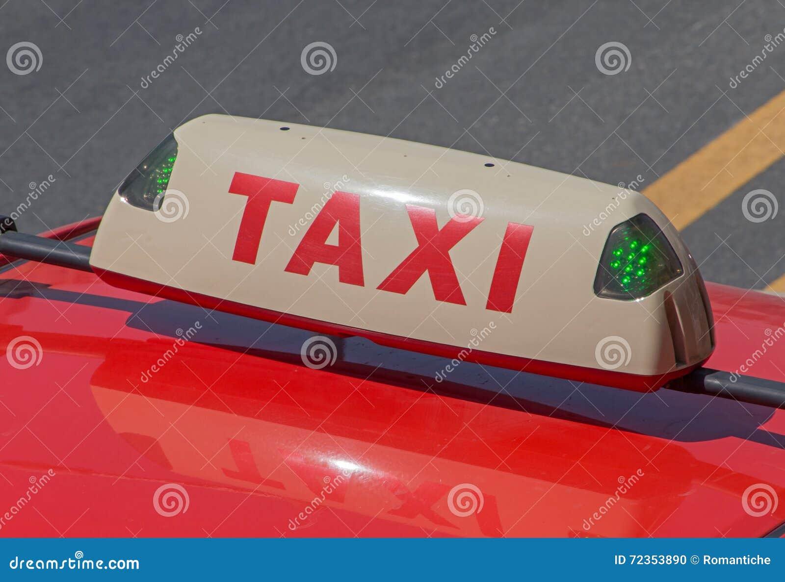 空置出租汽车上面灯