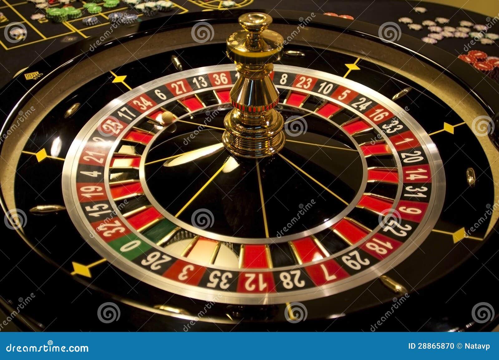 空转的轮盘赌在娱乐场