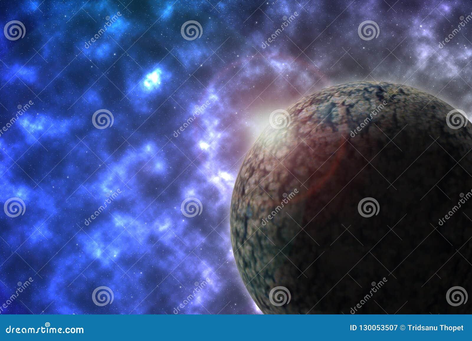 空间和行星例证