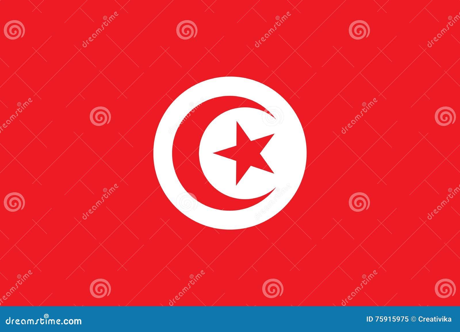 突尼斯旗子传染媒介横幅