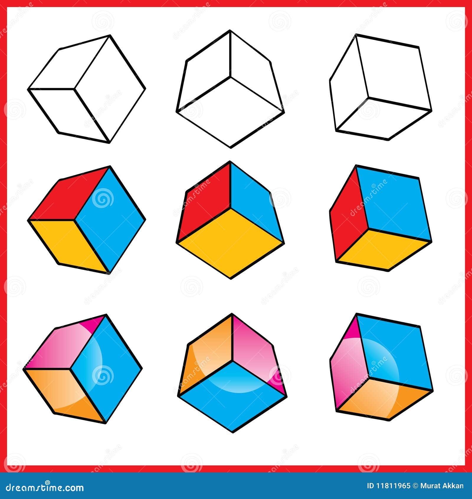 立方体徽标向量