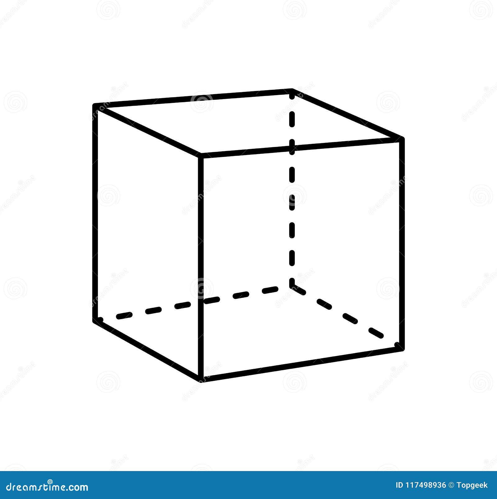 立方体黑投射被隔绝的几何图