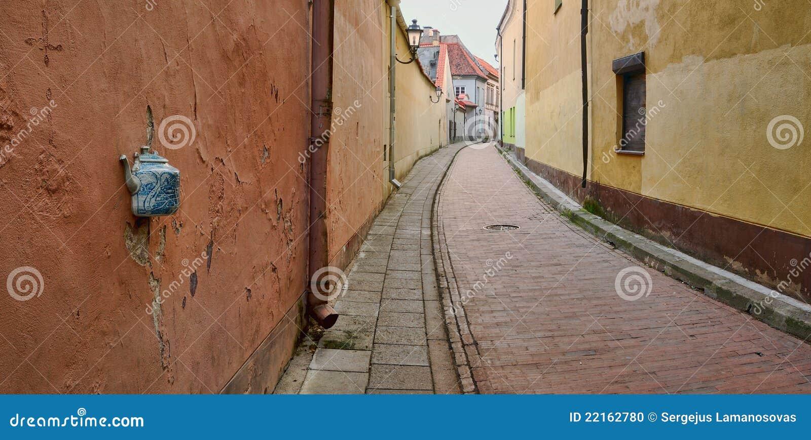 立陶宛老街道城镇维尔纽斯
