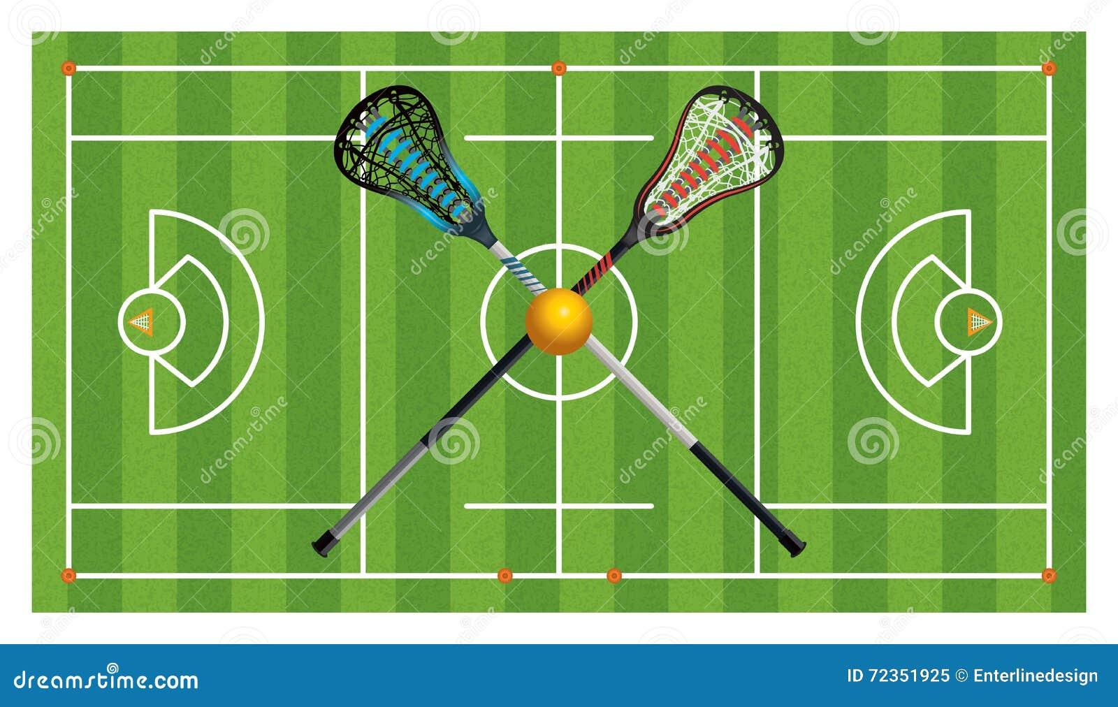 章程曲棍网兜球领域和棍子