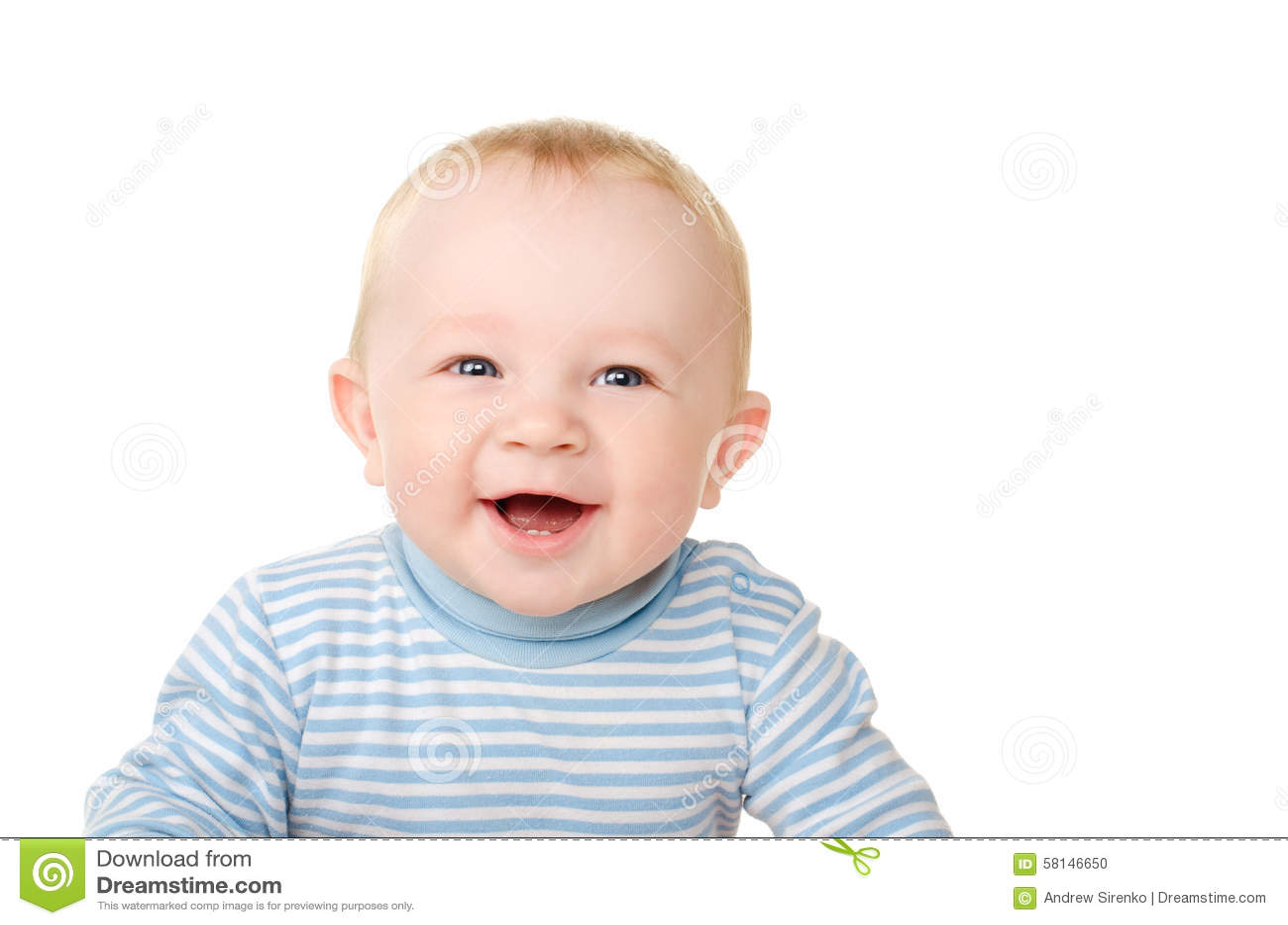笑滑稽的男婴画象