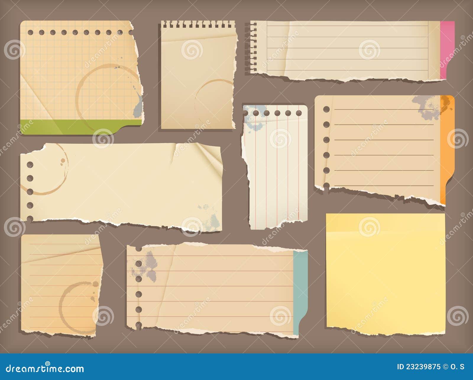 笔记本老纸张