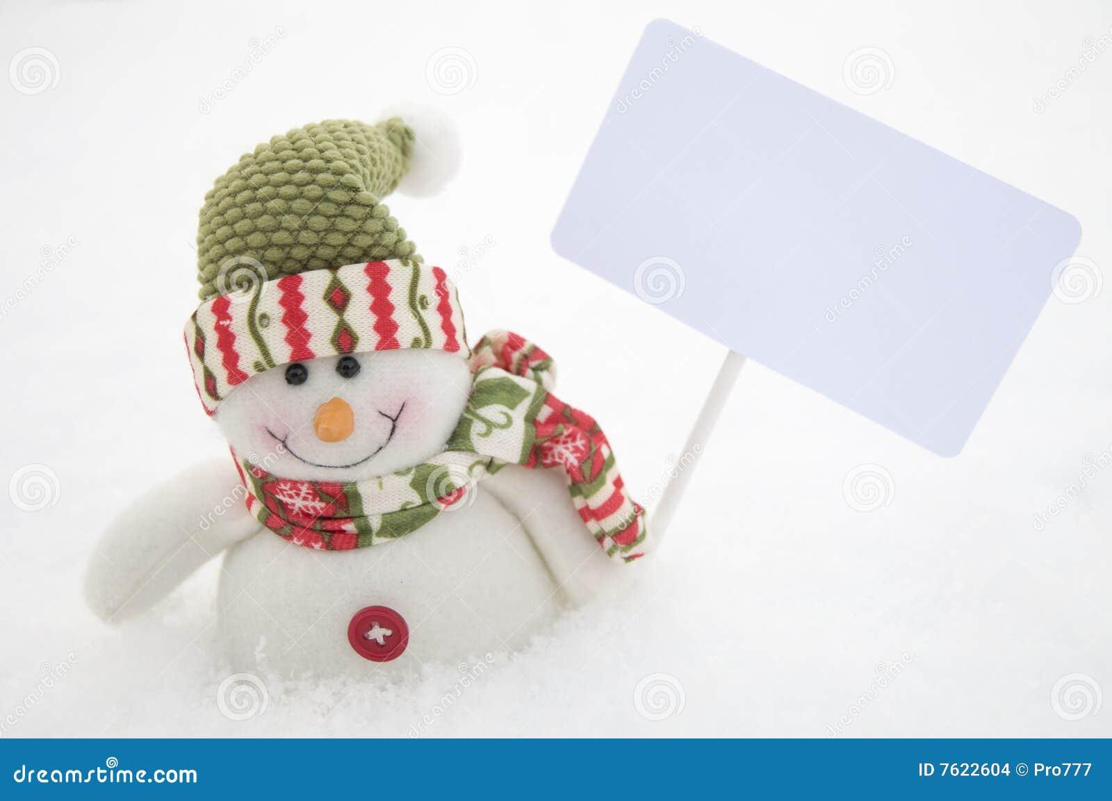 符号雪人白色