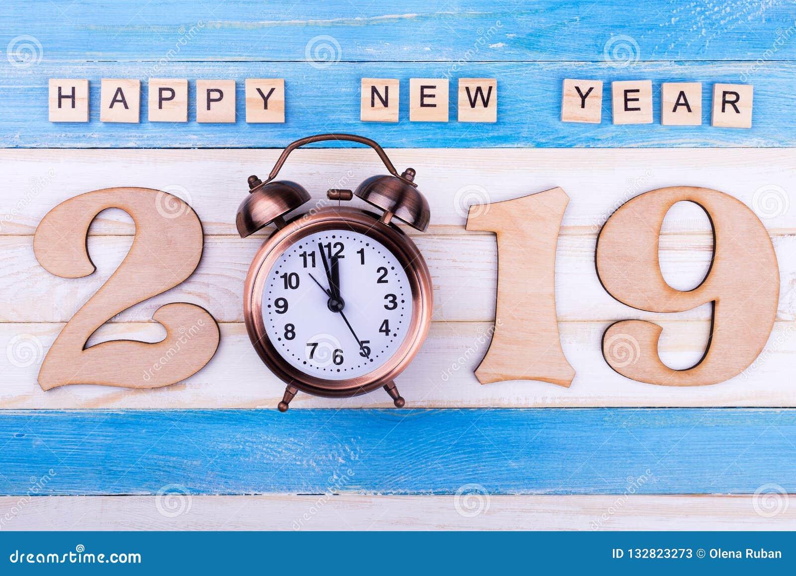 第2019年,闹钟,新年快乐