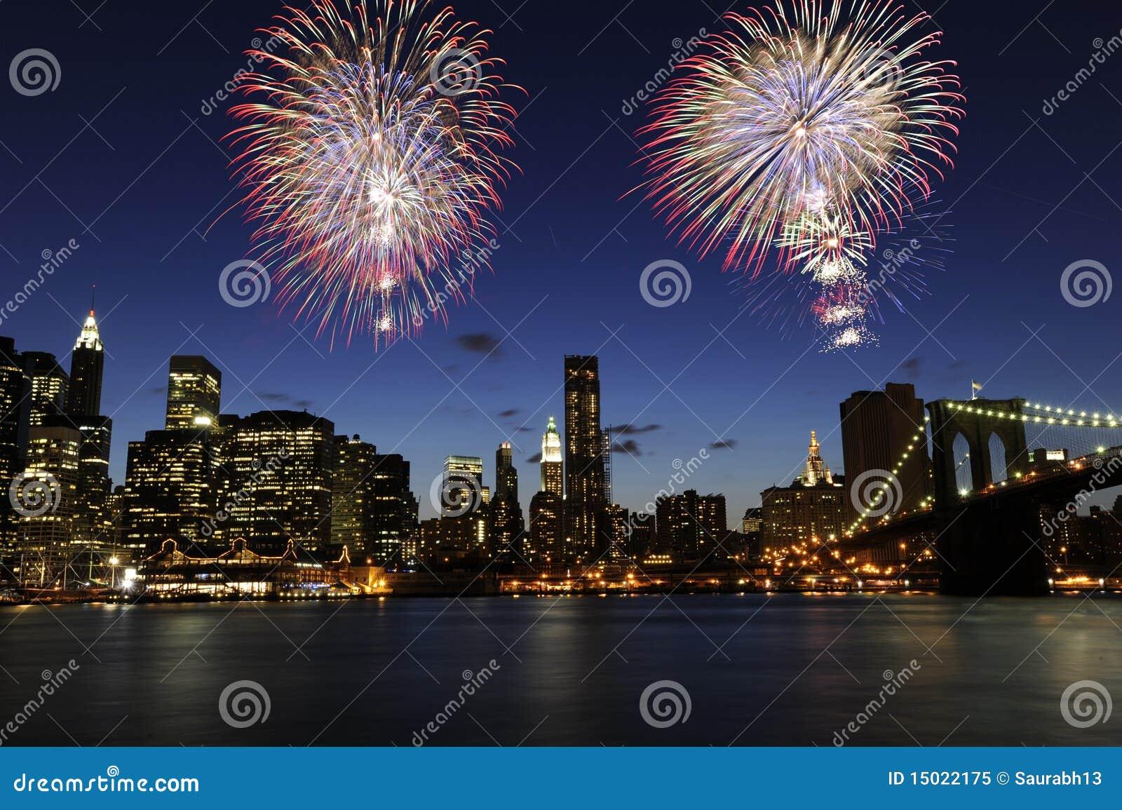 第4城市烟花7月纽约