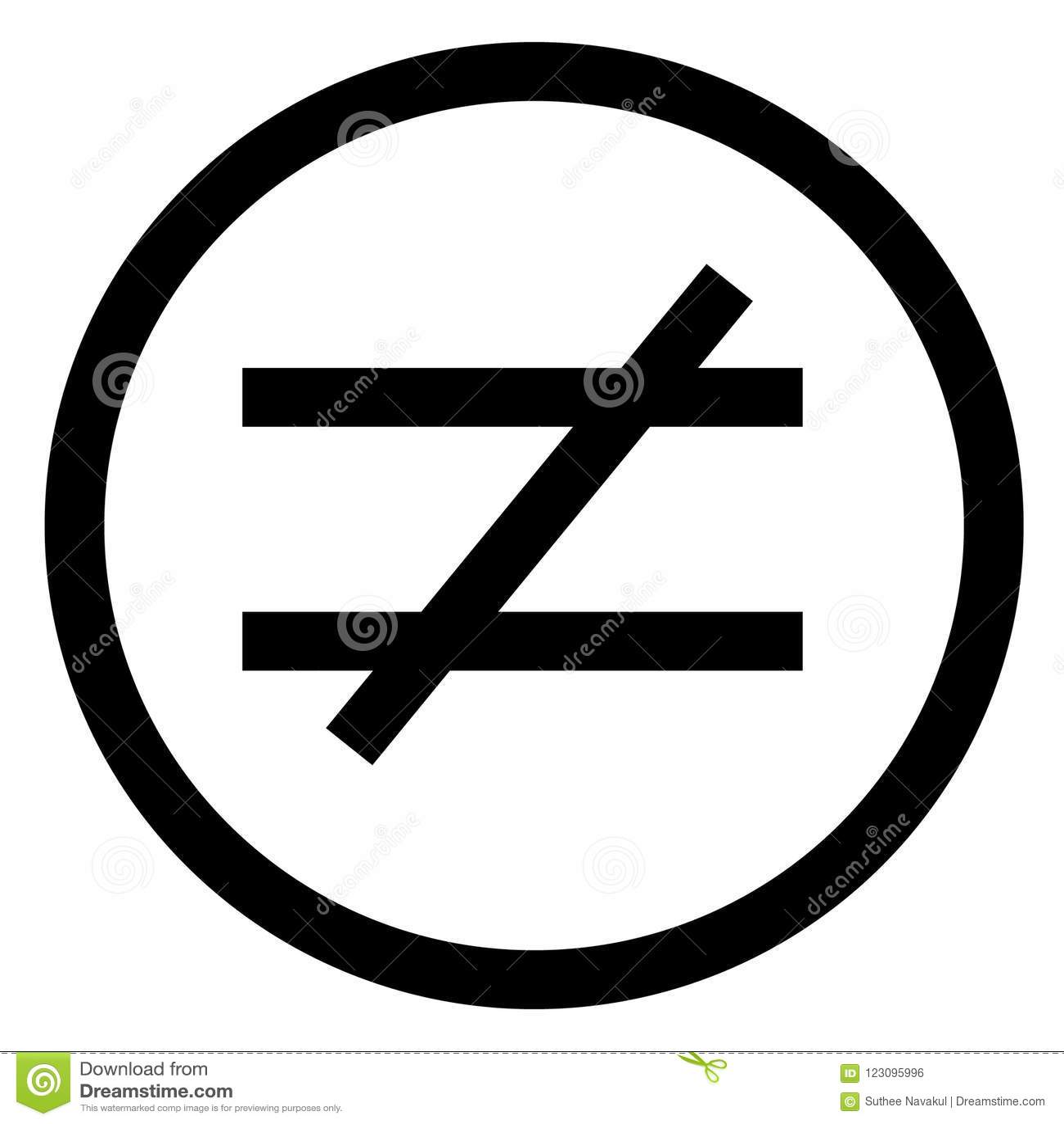 等号 平的样式 被隔绝的不相等的象例证