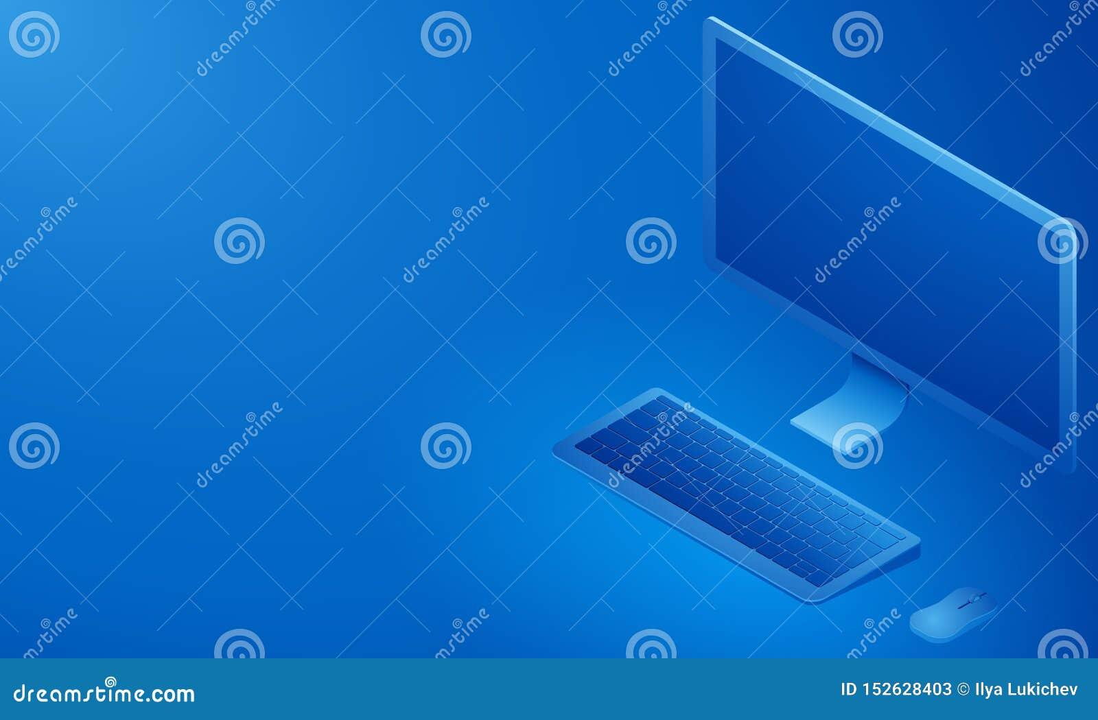 等轴测图个人计算机 r