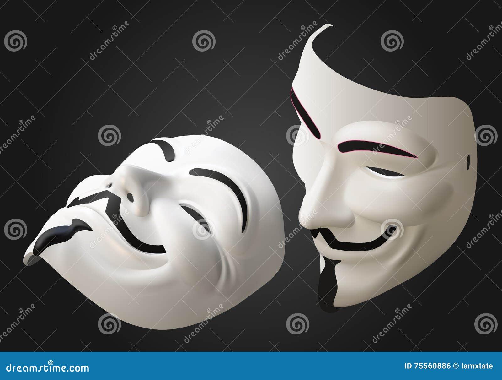 等量匿名面具的传染媒介3d