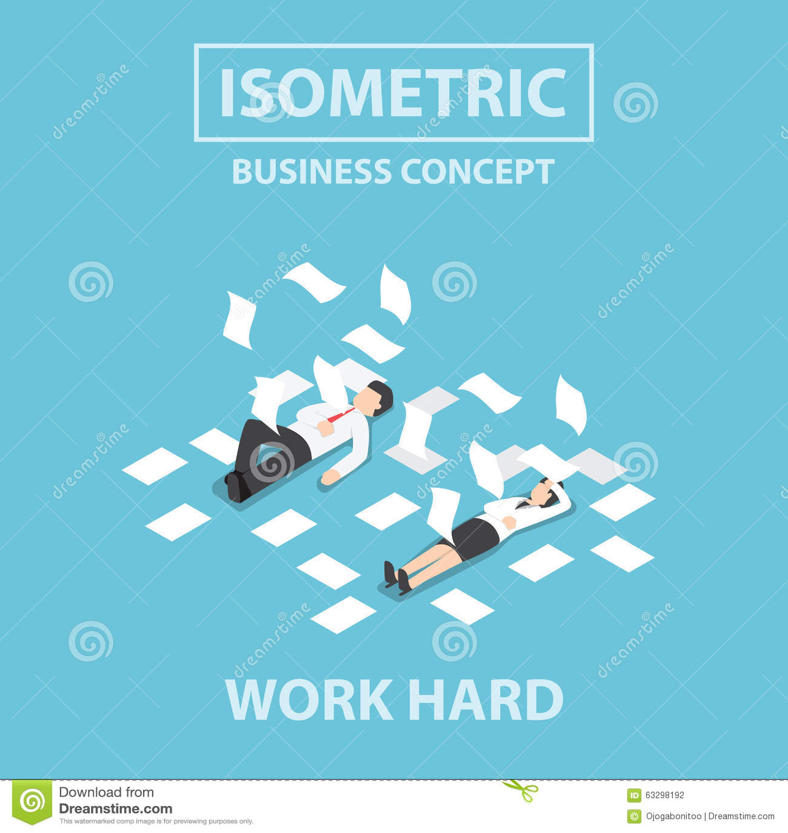 等量商人工作坚硬和不自觉在地板上