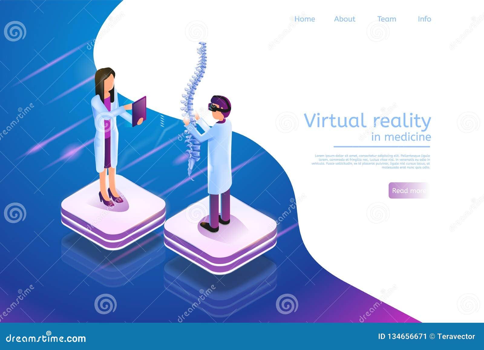等量在医学3d的横幅虚拟现实